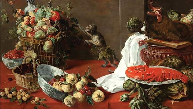 Frans Snyders_- Still life with monkeys